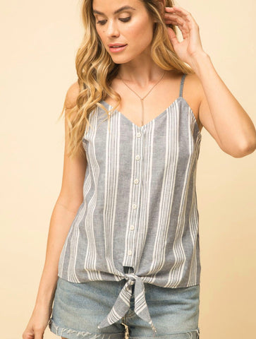 Hem & Thread Tortoise Ring Cami in Ecru