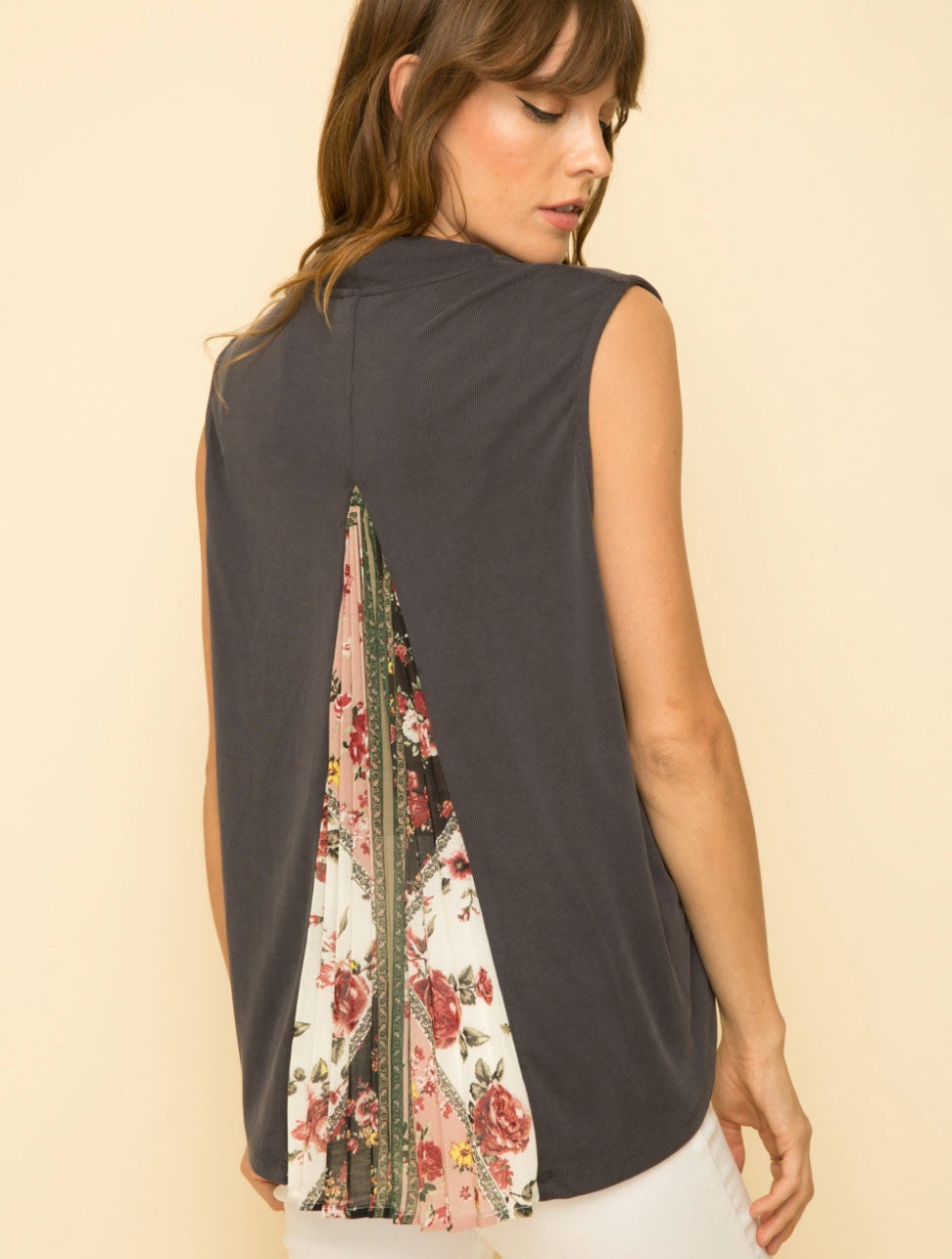Mystree Drape Top in Charcoal
