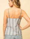 Mystree Striped Tank in Denim