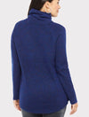 RD Style Cowl Neck Sweater in Navy