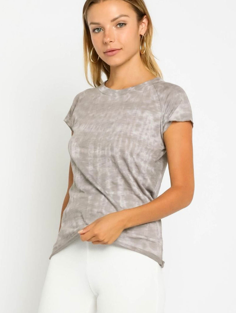 Olivaceous Fitted Tee in Grey
