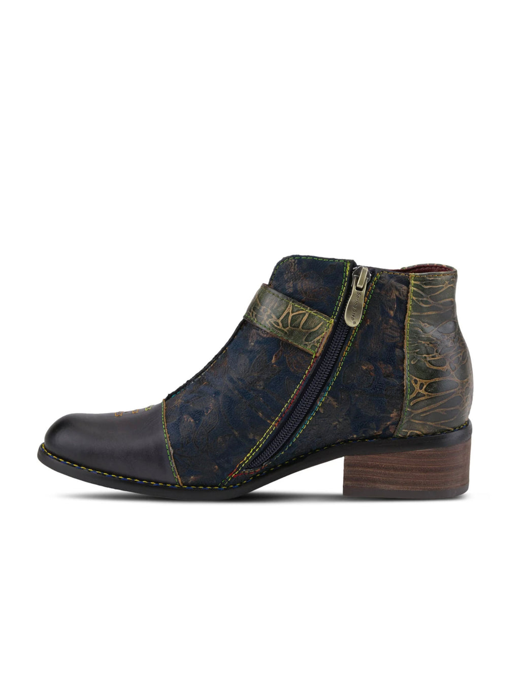 Spring Step L'Artiste Georgiana Bootie in Black Multi