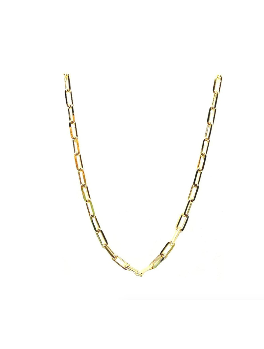 Athena Designs Thin Link Necklace in Gold