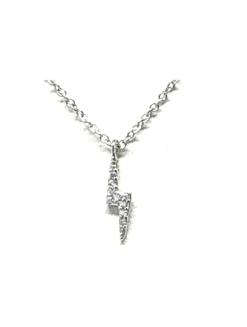 Athena Designs Pave Lightening Bolt in Silver