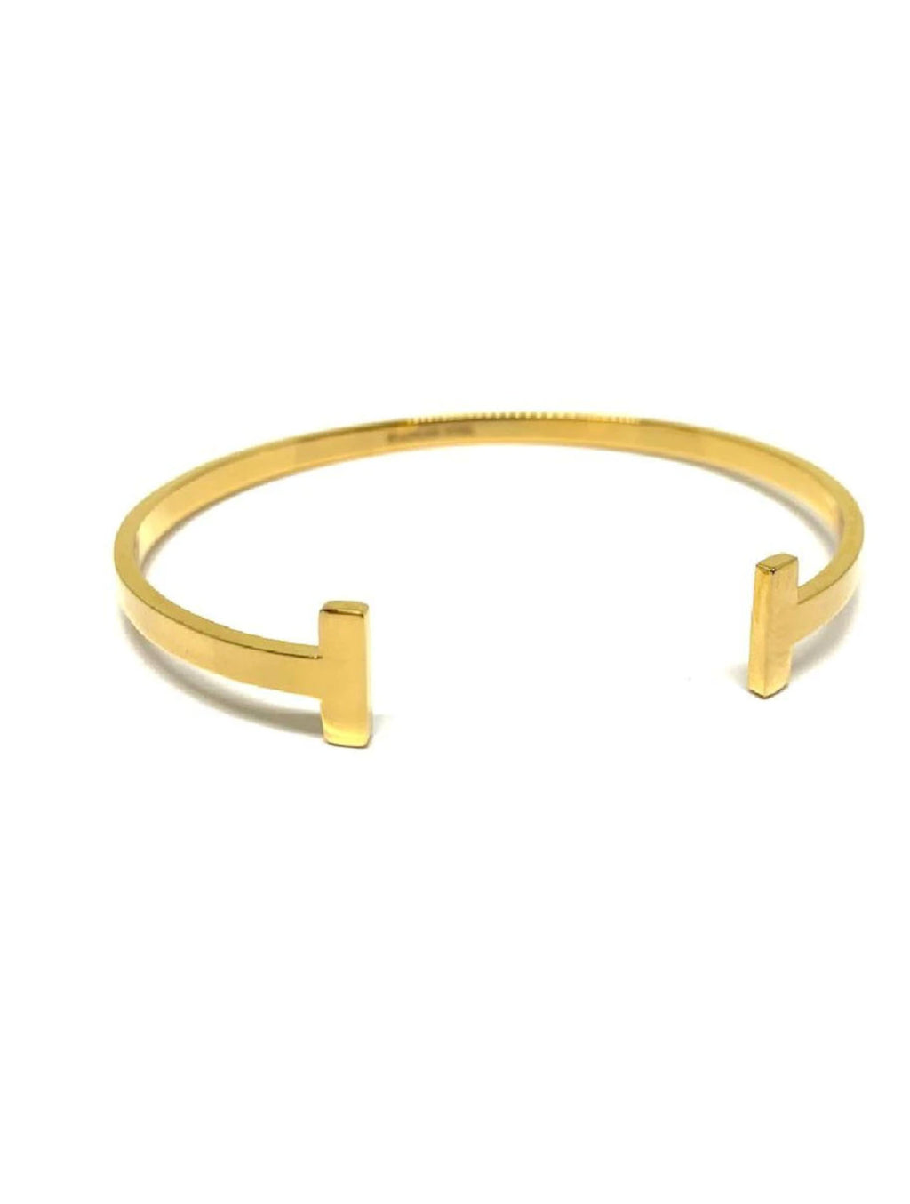 Athena Designs Open T Bangle Cuff in Gold