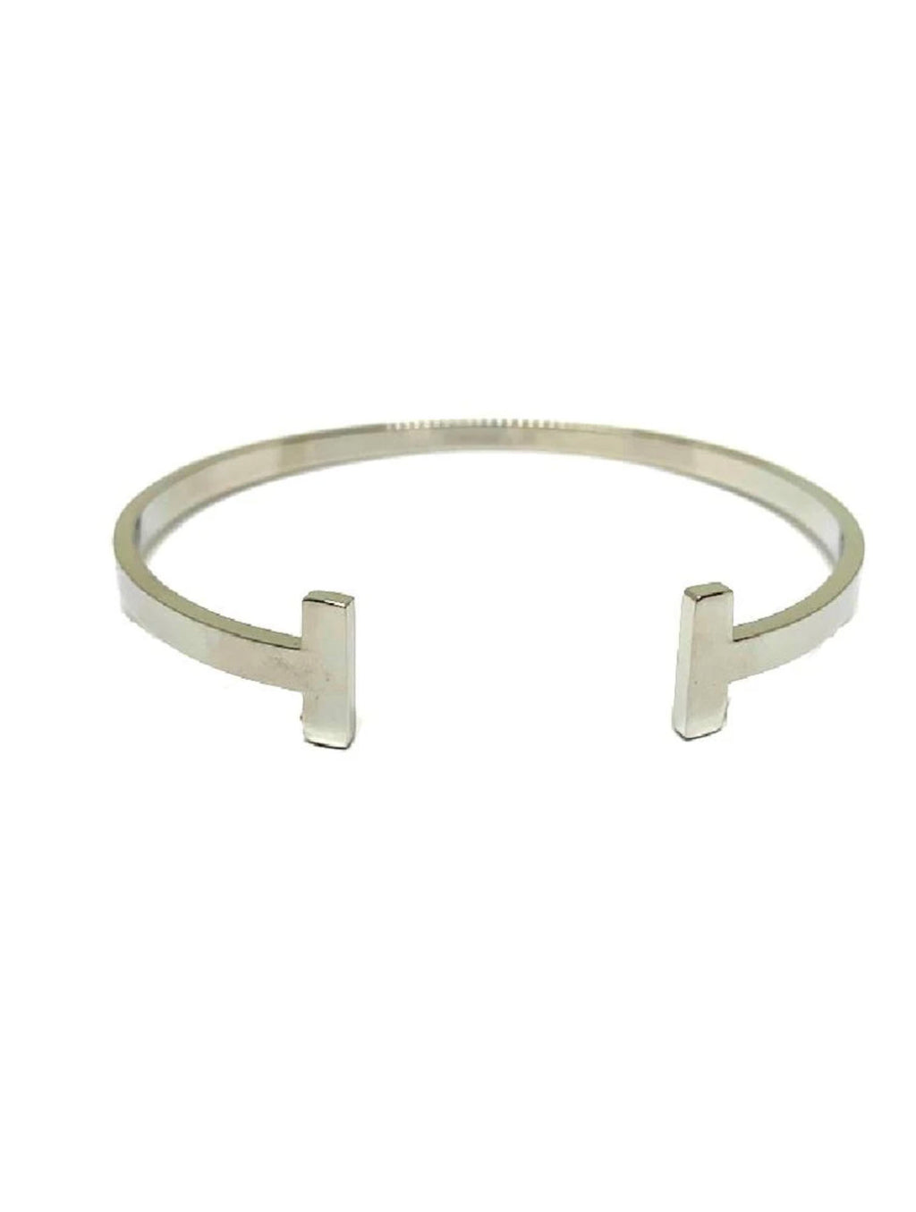 Athena Designs T Bangle Cuff in Silver