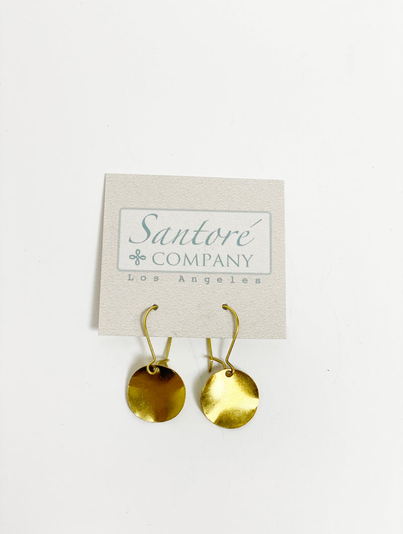 Santore Hammered Circle Earring in Gold