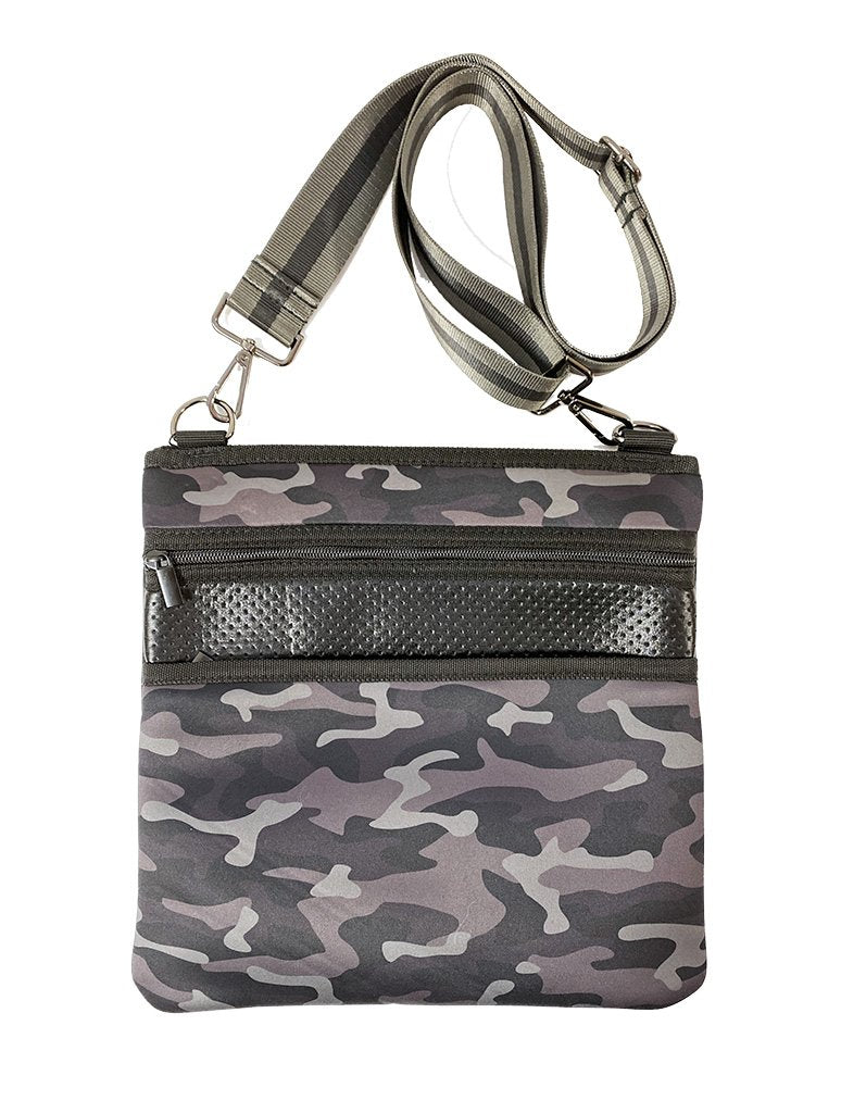 Haute Shore Peyton Shadow Crossbody Bag in Black Camo