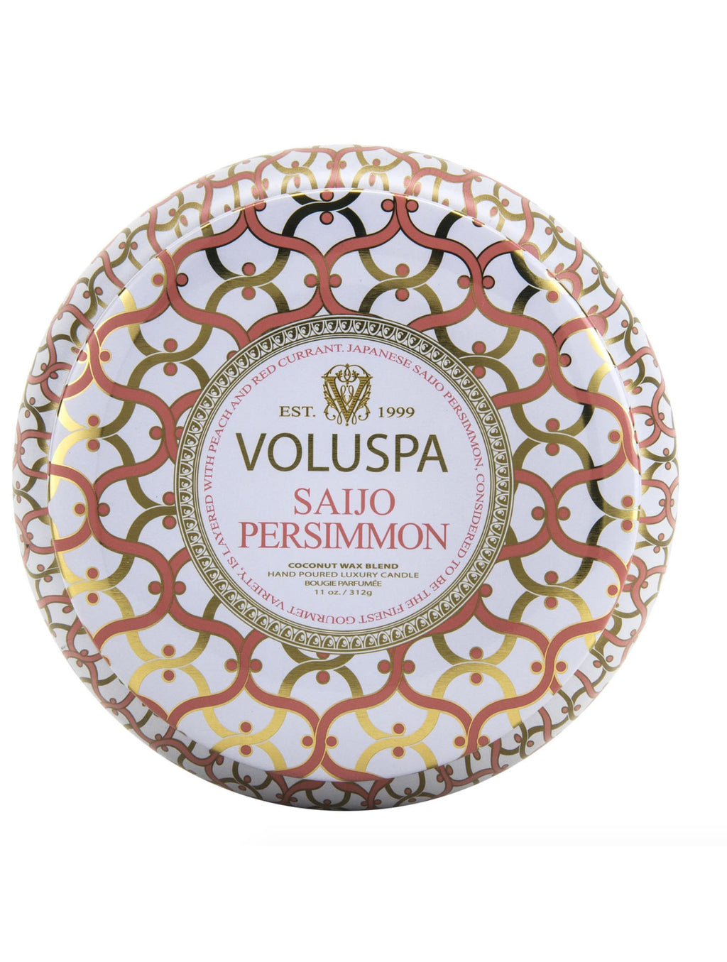 Voluspa 2 Wick Tin Candle in Saijo