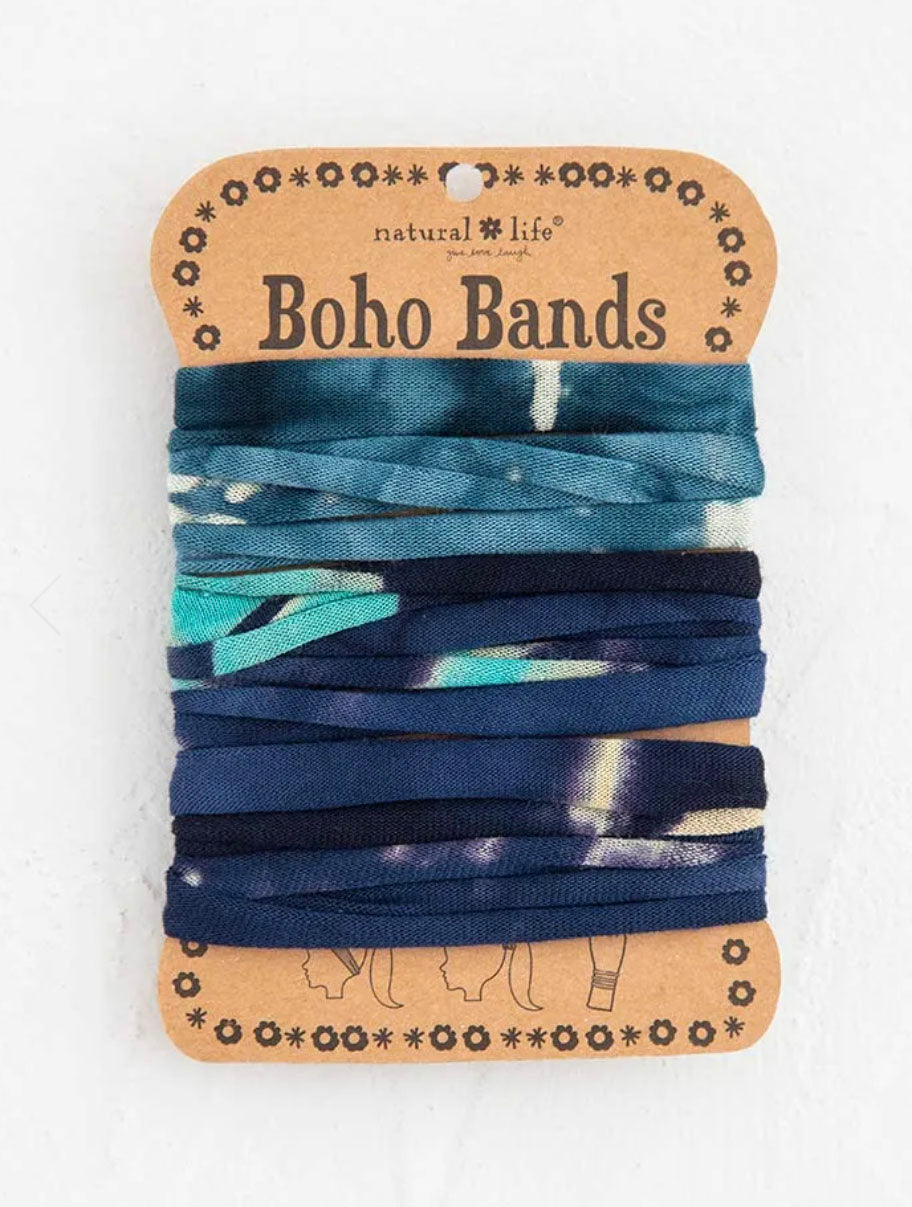 Natural Life Boho Bands in Tie Dye Turquiose