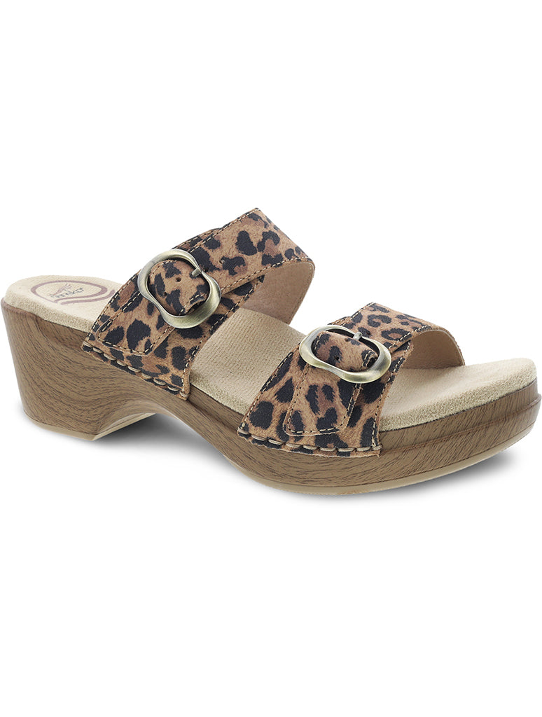 Dansko Sophie Wood Bottom Heel in Leopard