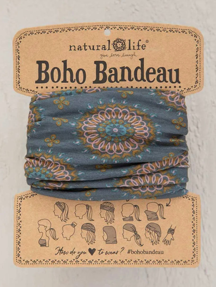 Natural Life Boho Bandeau in Sage/Gold Medallion