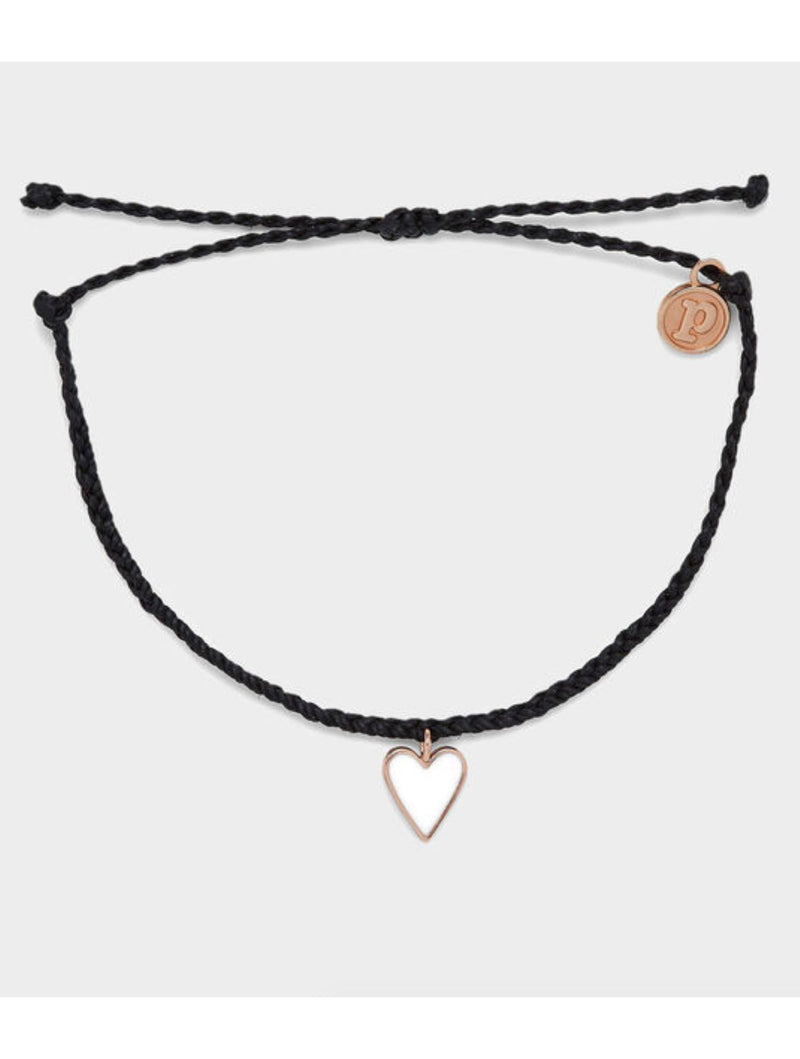 Pura Vida Petite Heart Bracelet in Black