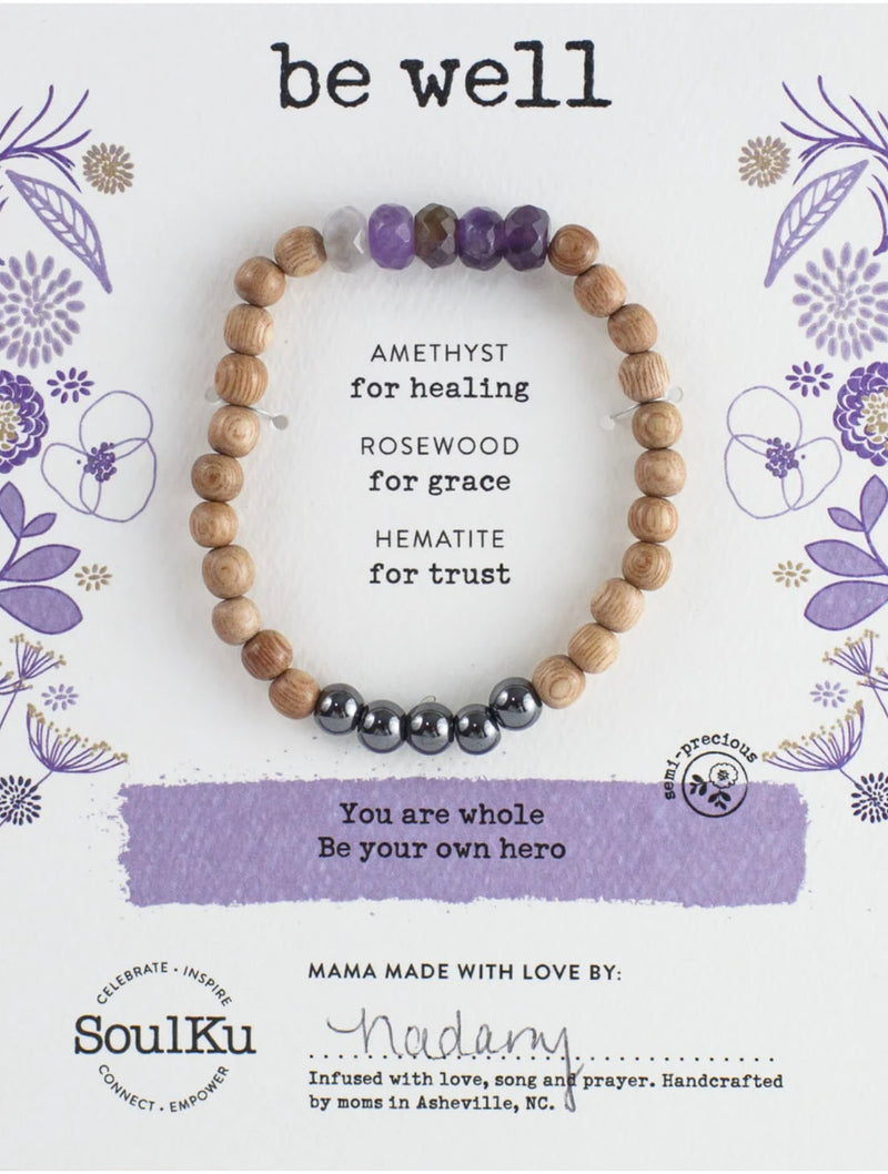 "SoulKu Jewelry Amazonite ""Be Well"" Bracelet"