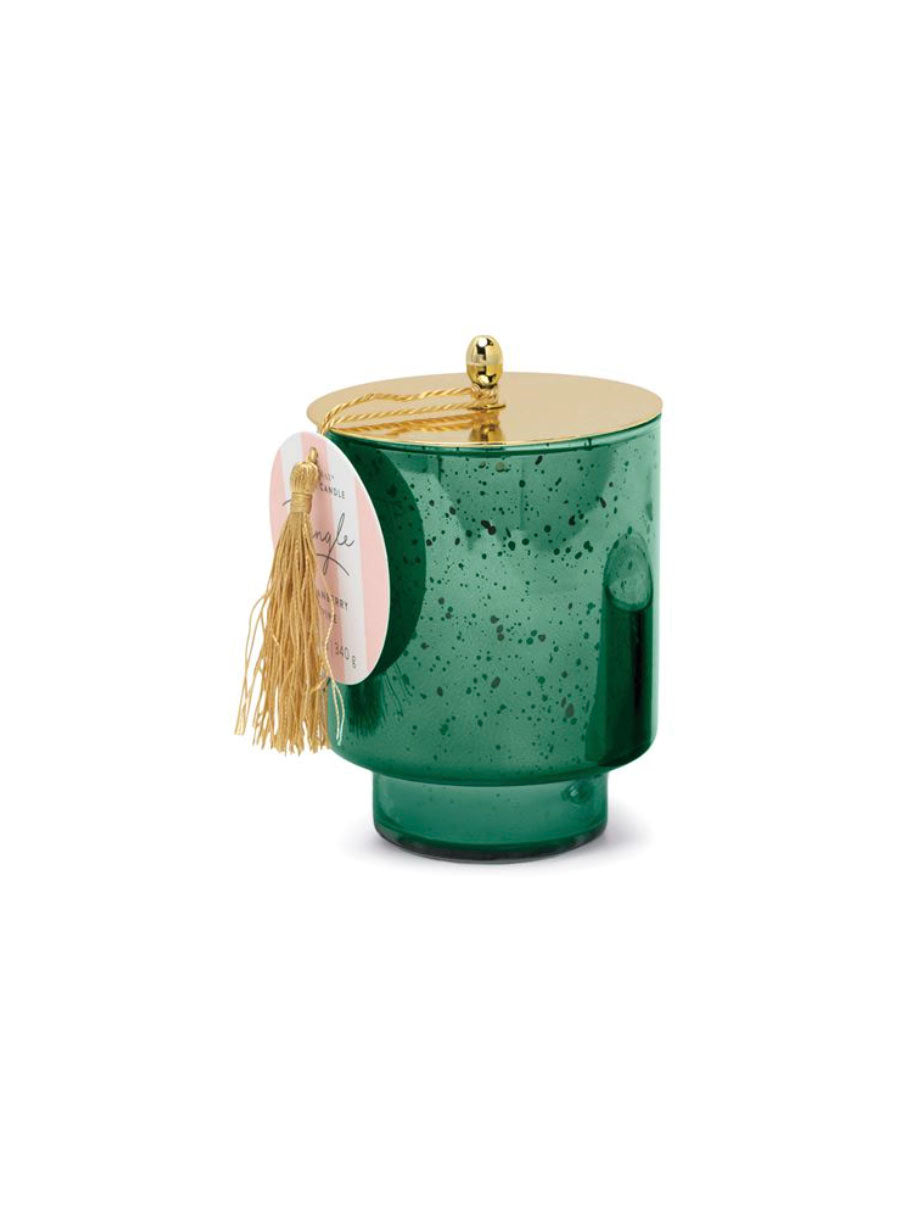Paddywax Tinsel Large Candle in Cranberry Pine