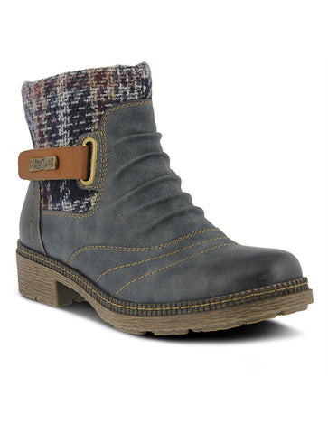 Sorel Lexie Lace Up Wedge Boot in Quarry