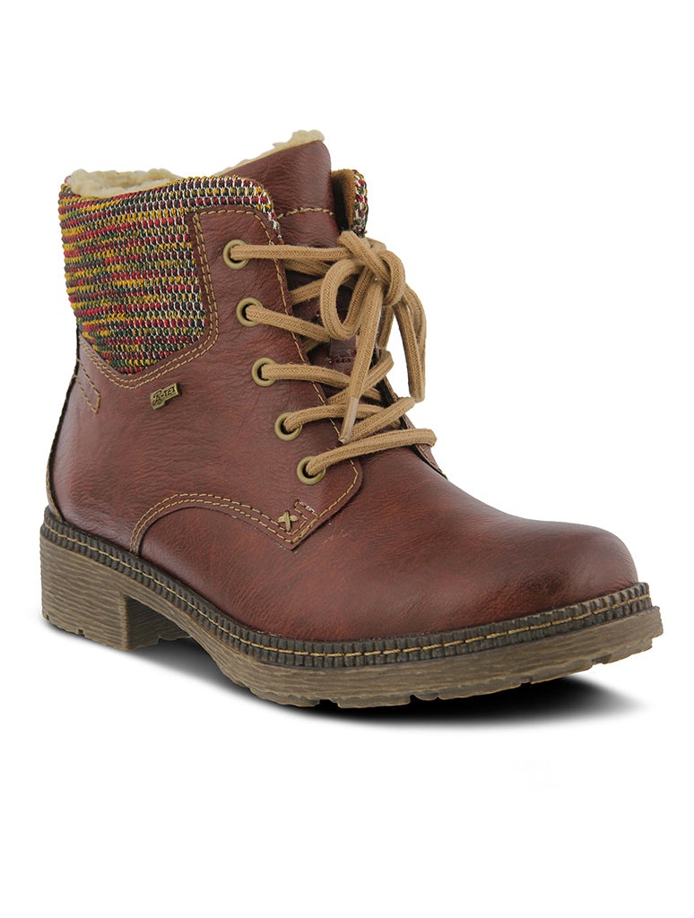 Spring Step Marylee Lace Up Boot in Bordeaux