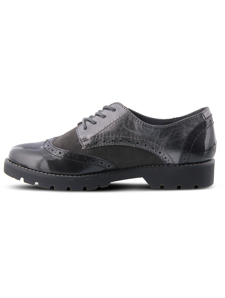 Spring Step Stanley Oxford in Pewter
