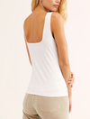 Free People Square Off Duo Cami in White