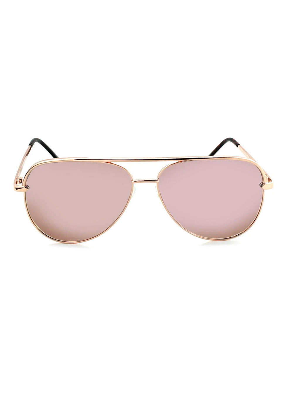 ONE Flatscreen Sunglasses in Shiny Rose Gold