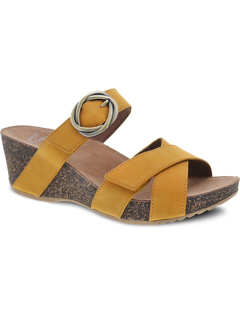 Dansko Susie Wedge Slide Sandal in Mango