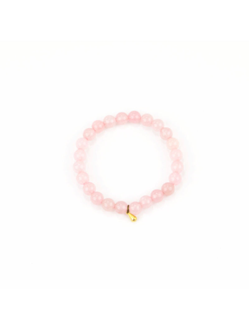 Santore Mala Bracelet in Rose Quartz