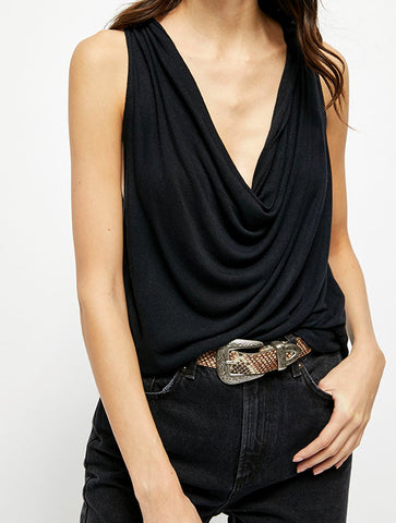 Free People On The Edge Romper in Black