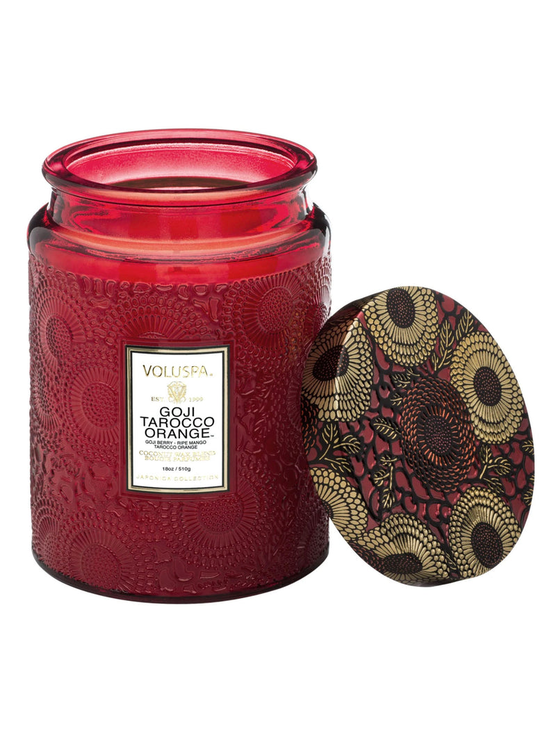 Voluspa Large Glass Candle in Goji