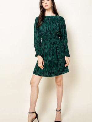 THML Cinch Dress in Green