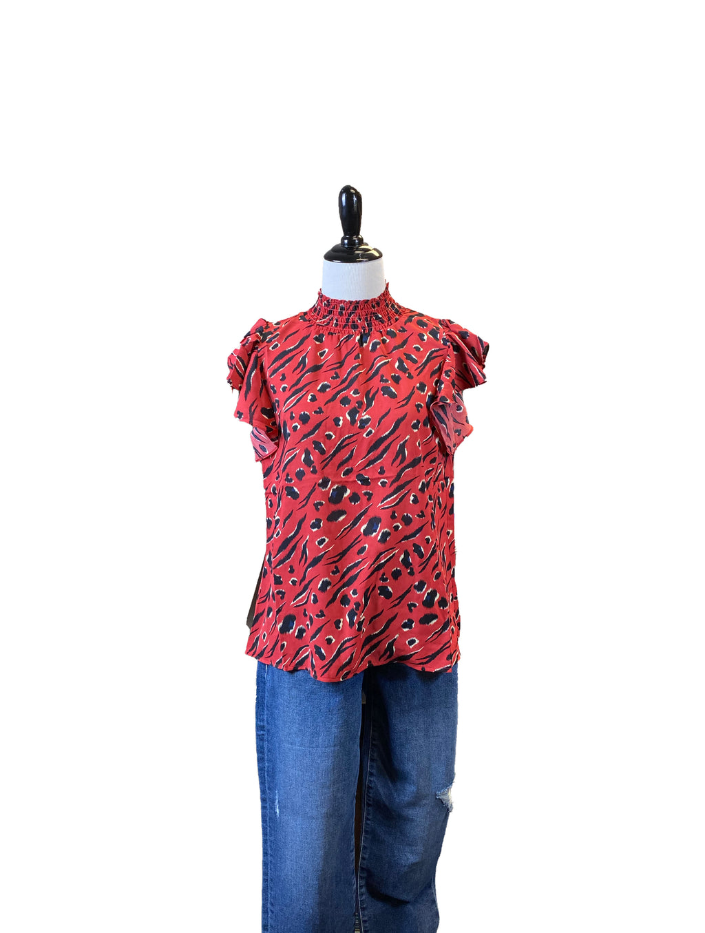 THML Flutter Top in Red