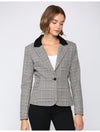 Fate Plaid Blazer in Grey Plaid