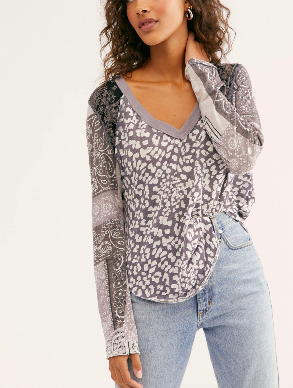 Free People Friday Night Long Sleeve in Dark