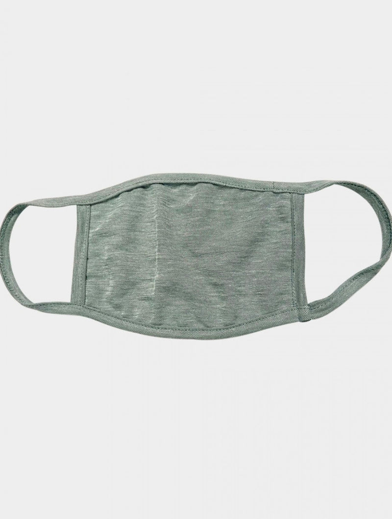 Coin 1804 Cotton Mask in Green