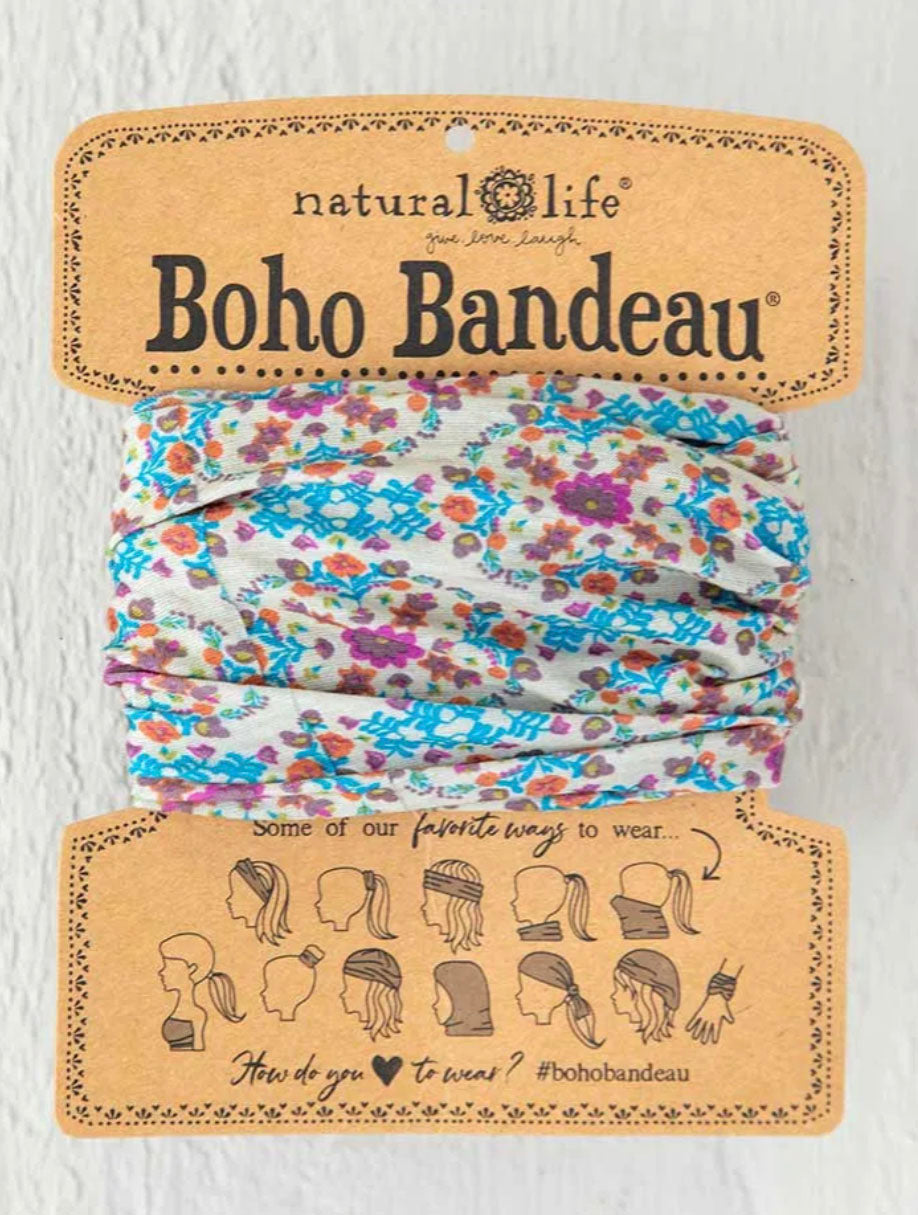 Natural Life Boho Bandeau in Flower Grey