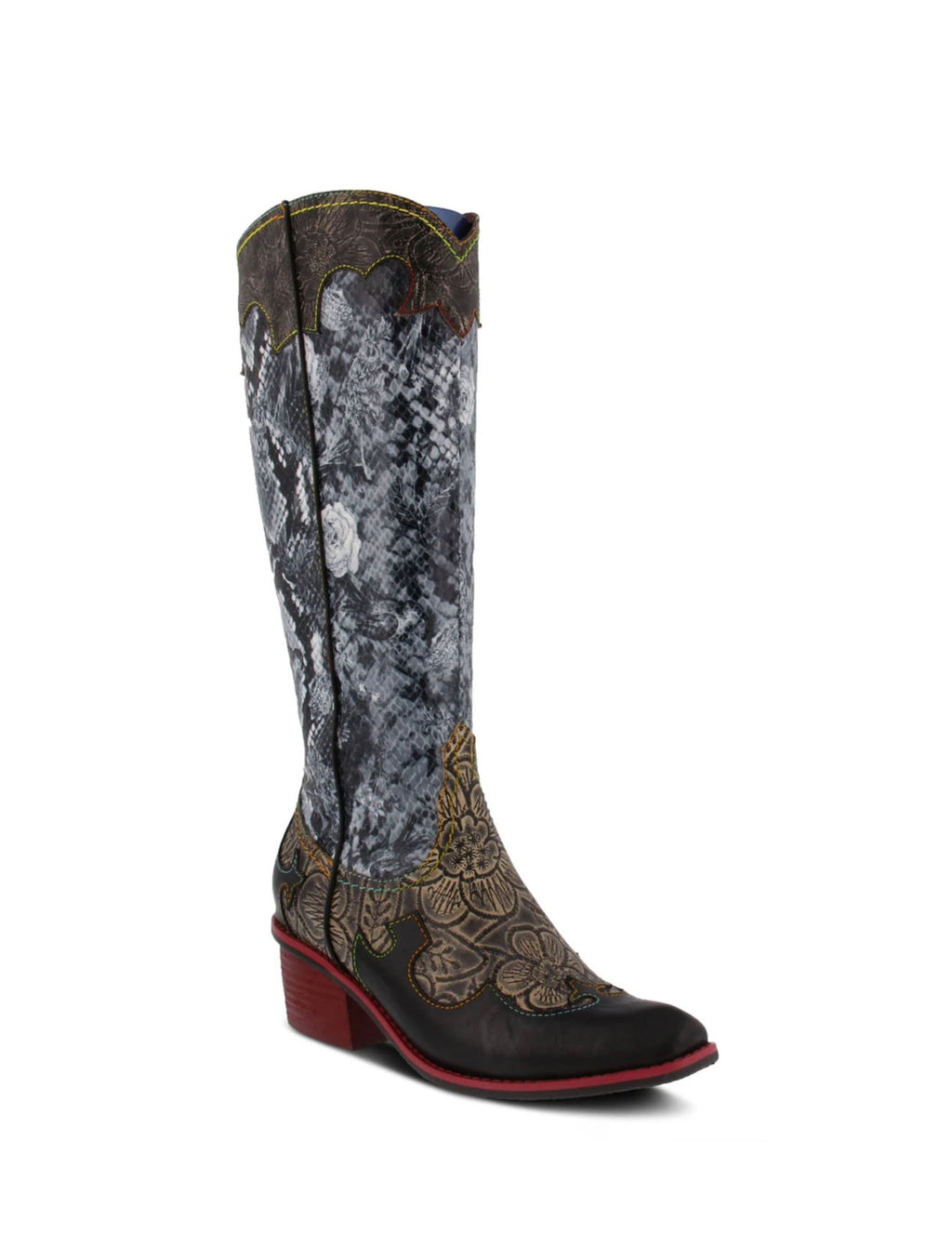 L'Artiste Rodeo Boot in Black Multi