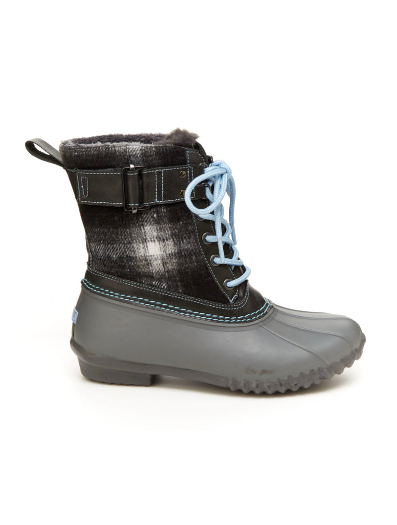 Jambu Vancouver Plaid Bootie in Grey