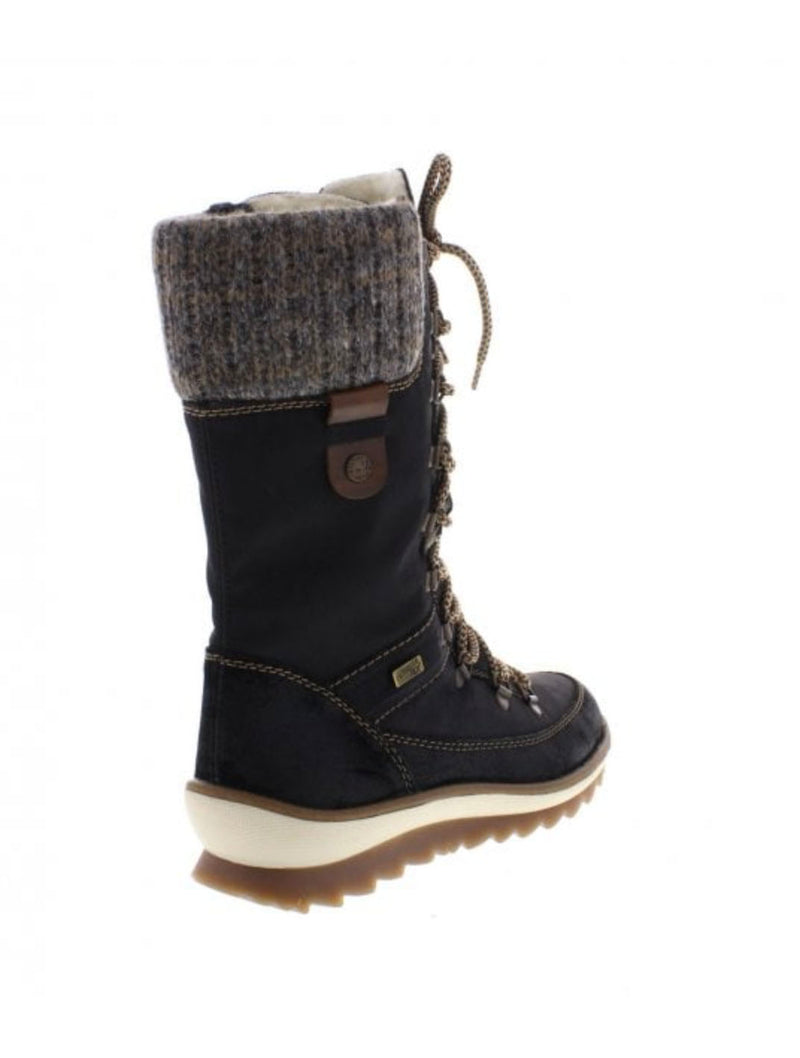 Remonte R4371-02 Tall Boot in Black
