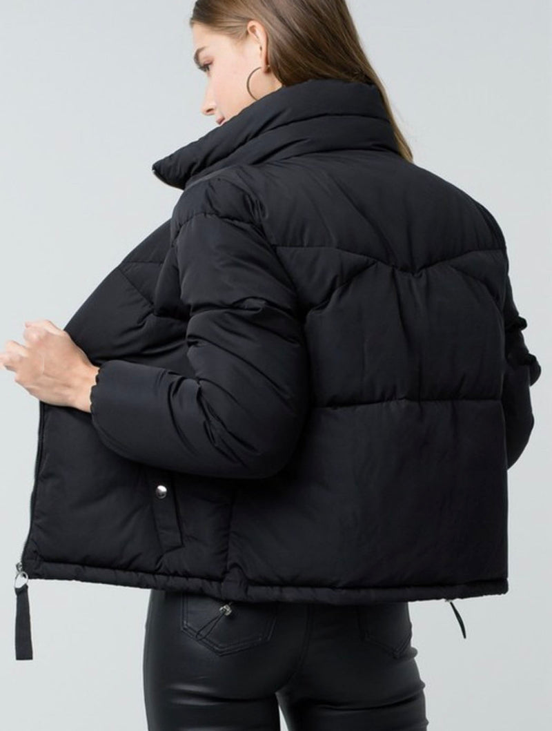 Trend Notes Puffer Jacket in Black