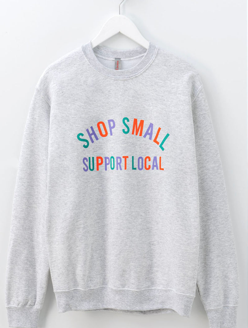 Trend Notes 'Love Local' Sweatshirt in Ash