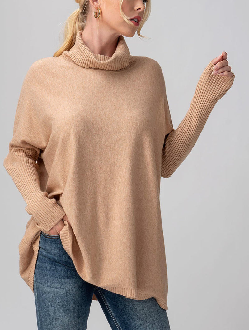 Trend Notes Turtle Tunic in Taupe