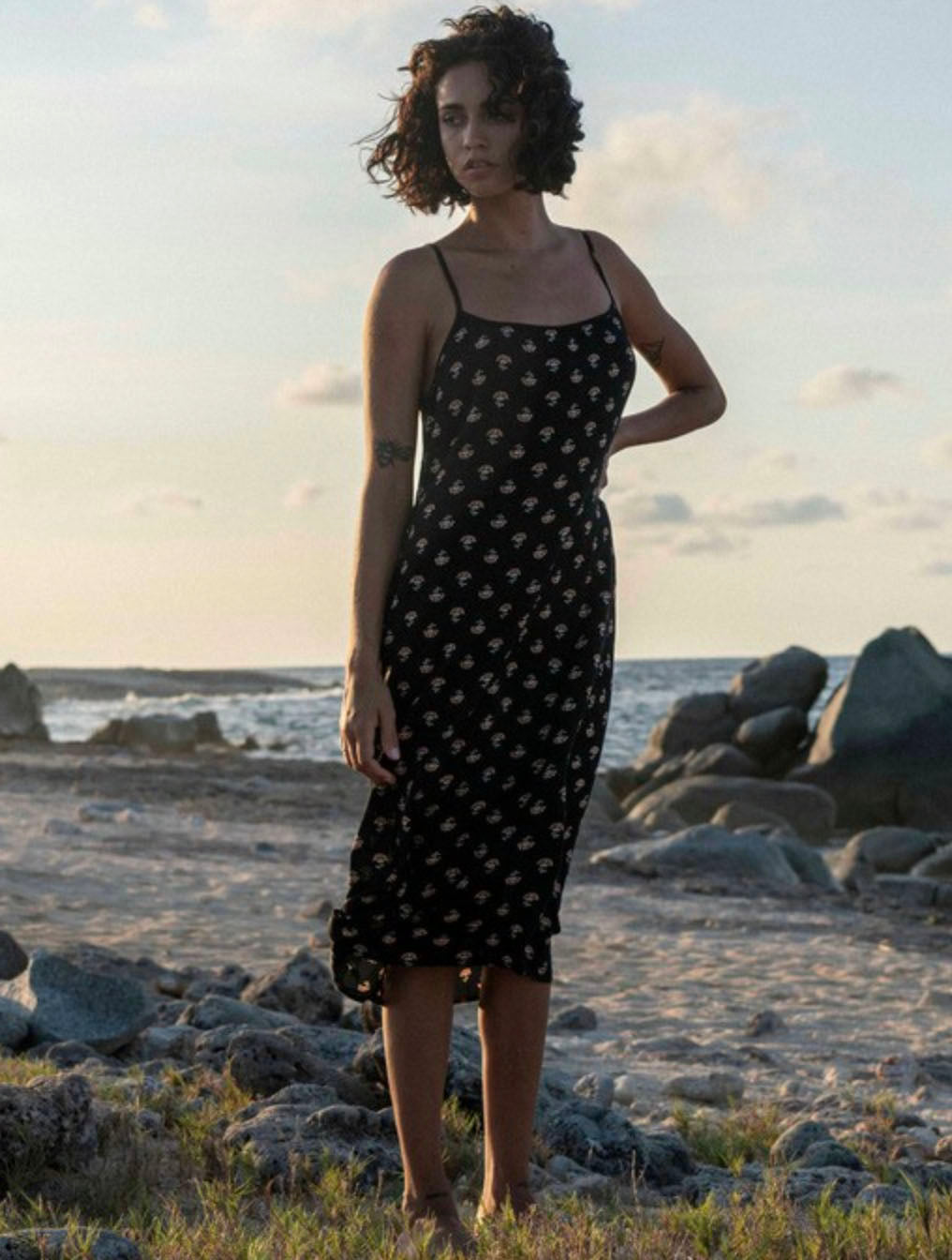 Billabong Sandy Beach Dress in Black