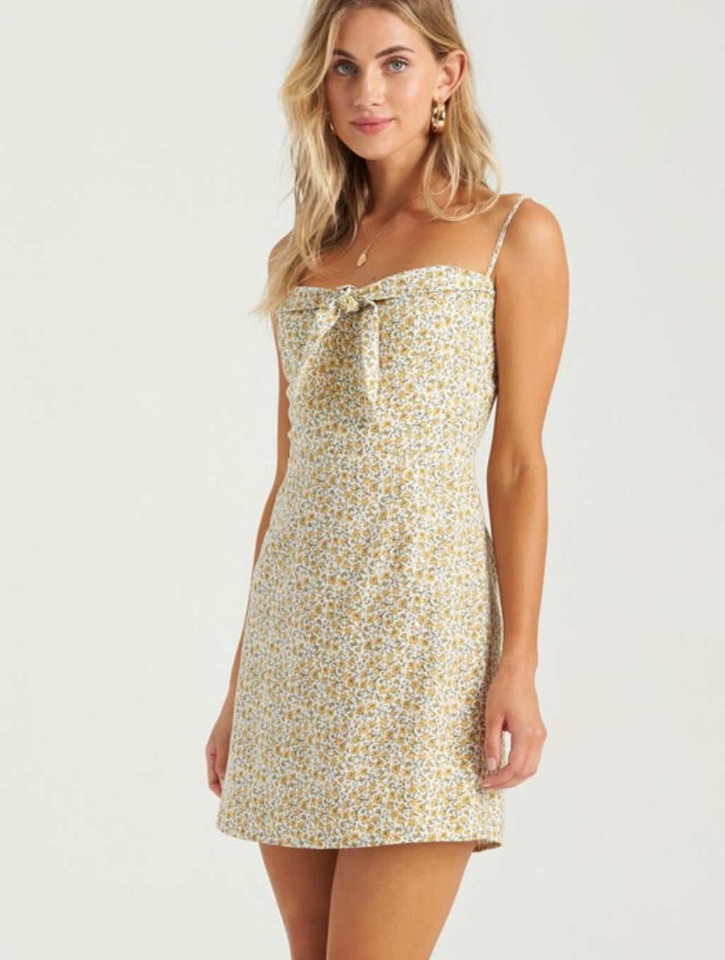 Billabong Endless Summer Dress in Bright Gold
