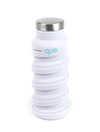 Que Collapsible Silicone 12oz Travel Water Bottle in White
