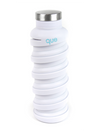Que Collapsible Silicone 20oz Travel Water Bottle in White