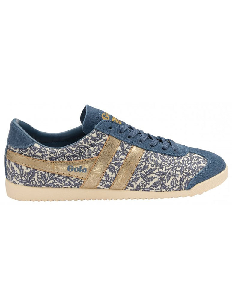 Gola Bullet Liberty Lace Up Sneaker in Baltic/Gold