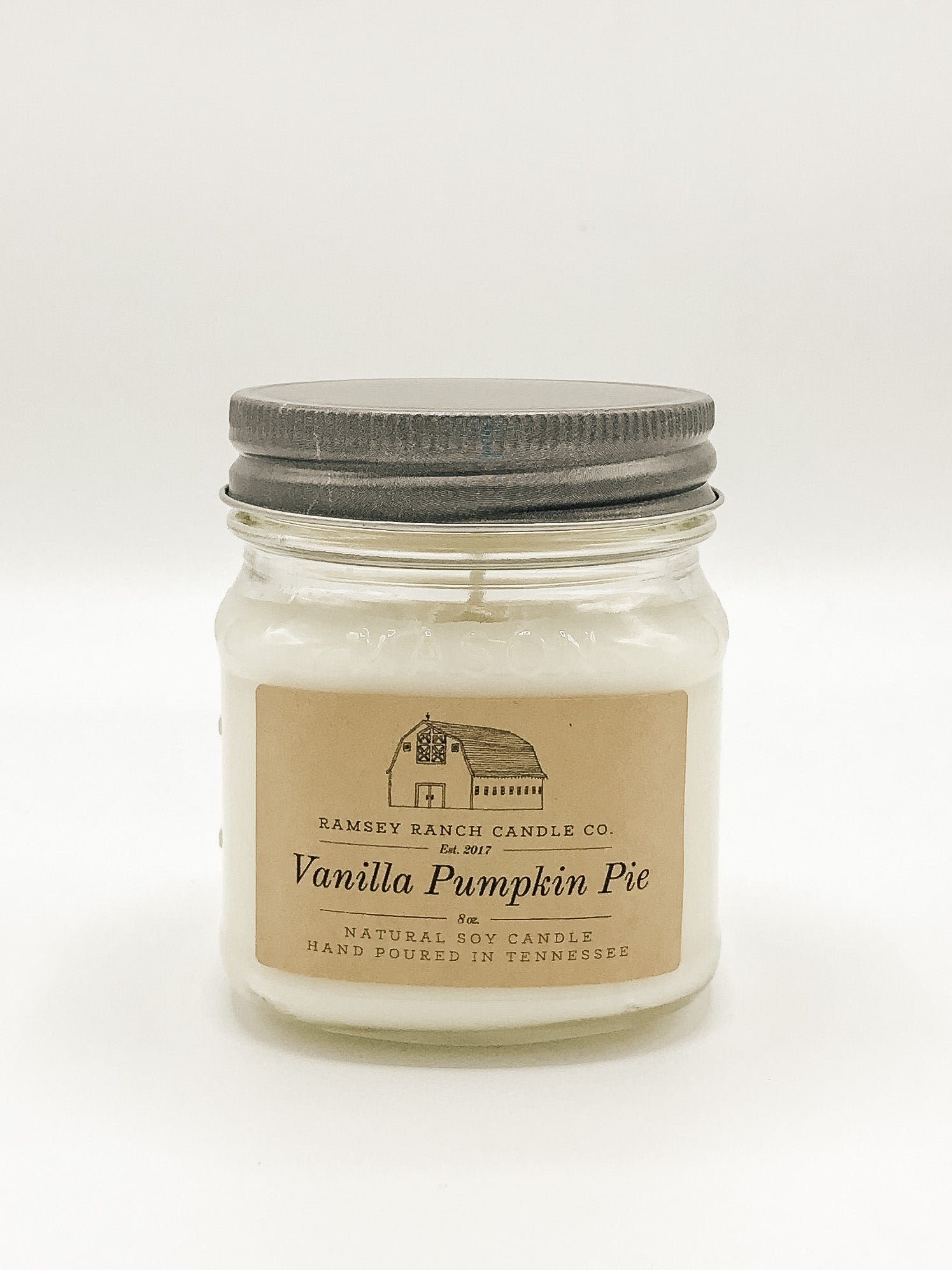 Vanilla Pumpkin Pie 8 oz Mason Jar