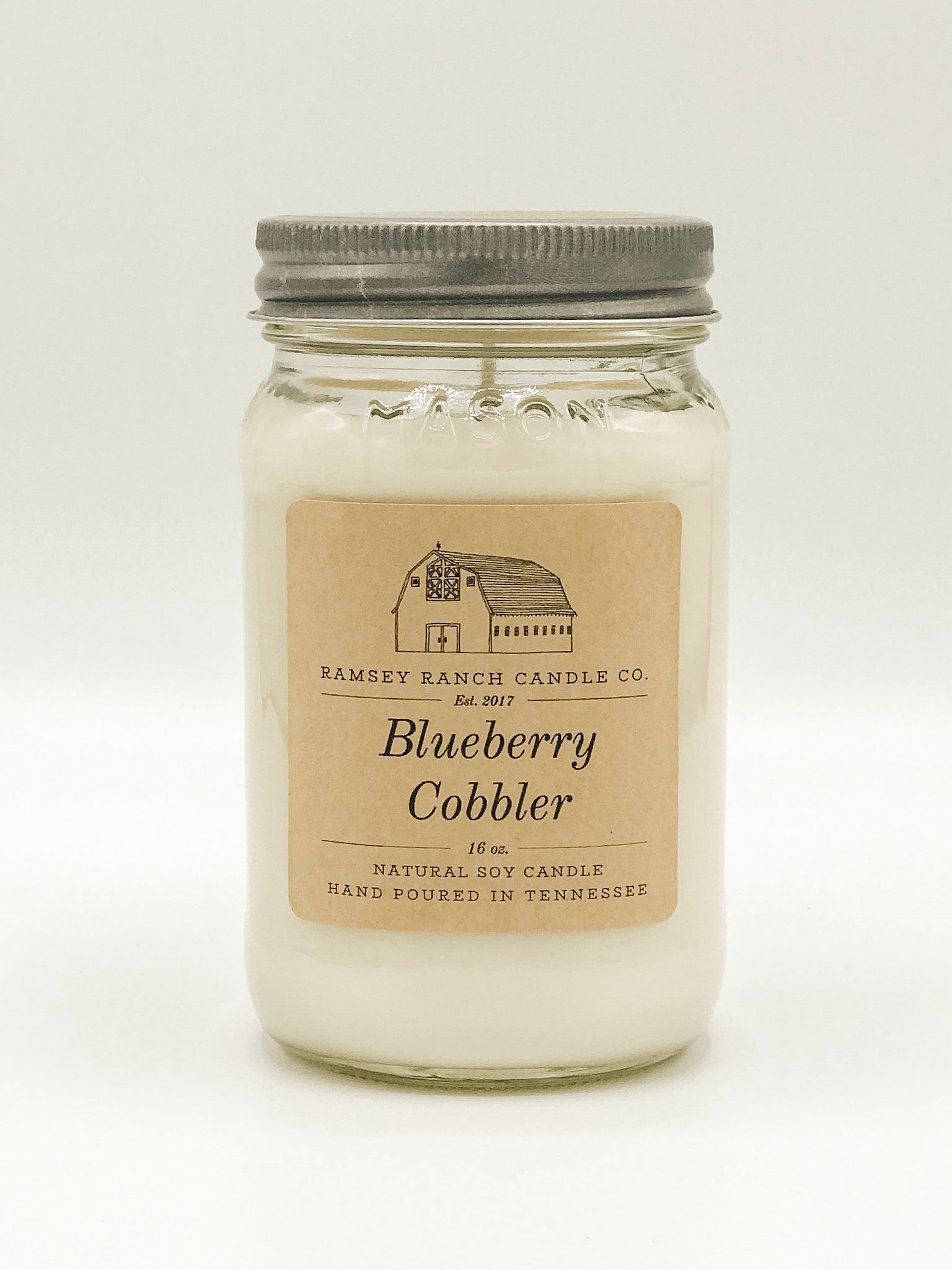 Blueberry Cobbler 16 oz Mason Jar
