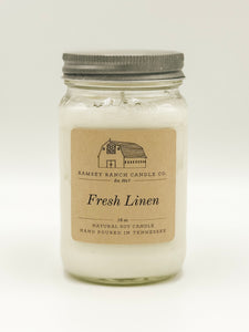 Fresh Linen 16 oz Mason Jar