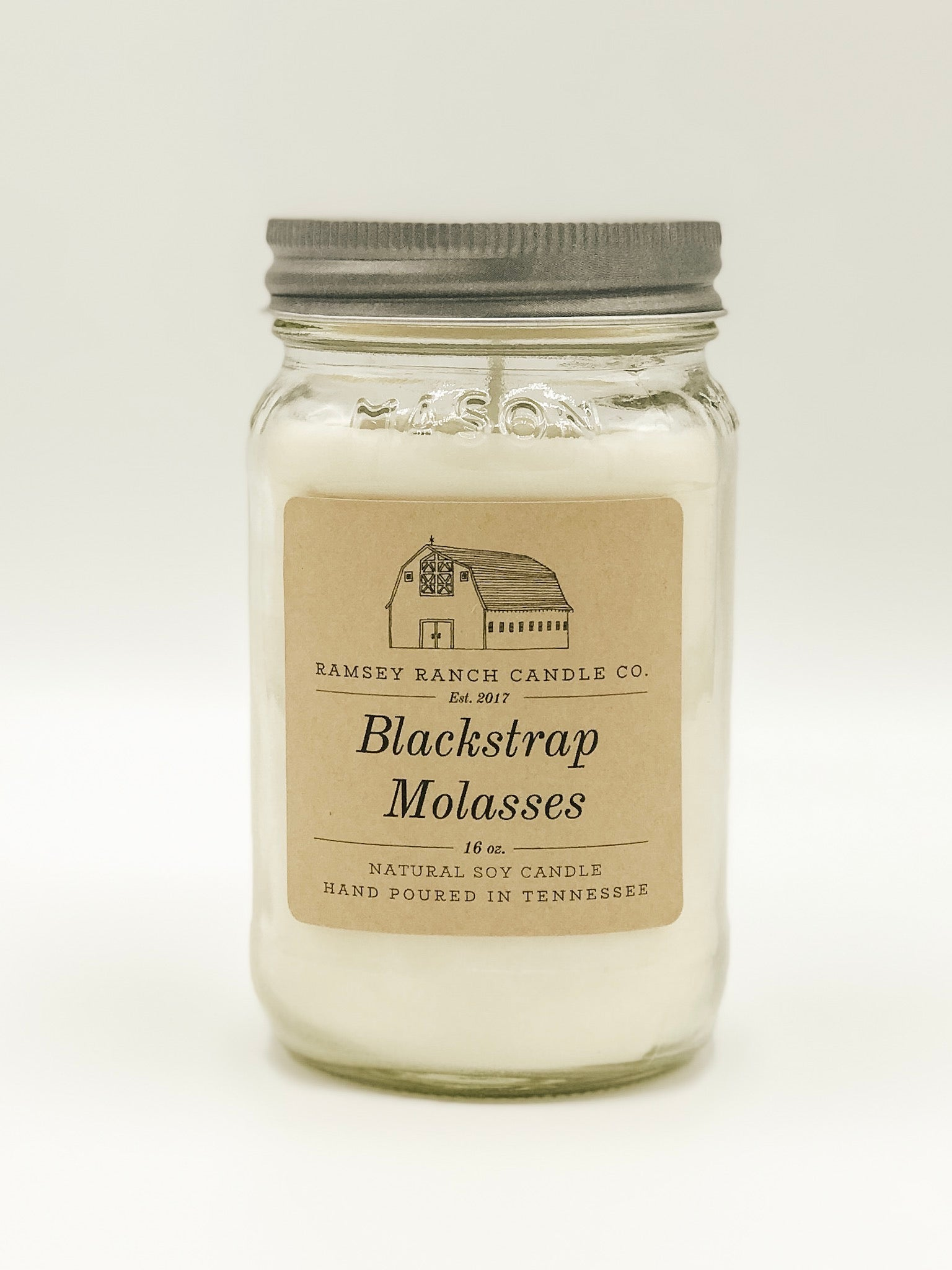 Blackstrap Molasses 16 oz Mason Jar