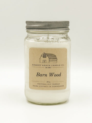 Barn Wood 16 oz Mason Jar